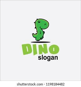 Cute Dino logo mascot for company