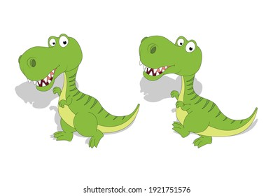 cute dinosaur animal cartoon, simple vector illustration