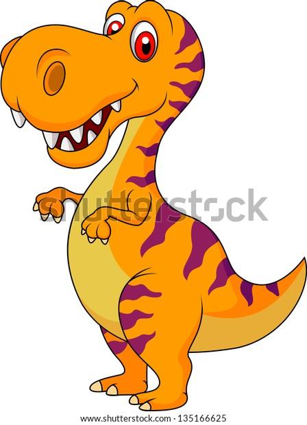 Cute Dinosaur Cartoon Stock Vector Royalty Free 135166625