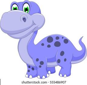 cute dinosaur cartoon smiling