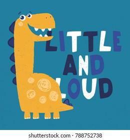 cute dinosaur illustration for kids fashion