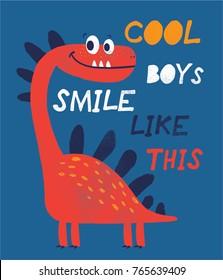 cute dinosaur illustration as vector
