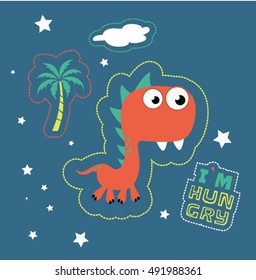 cute dinosaur poster template for children
