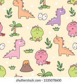 Dinosaur Kawaii Imagenes Fotos De Stock Y Vectores Shutterstock Over the moon for you: https www shutterstock com es image vector cute dinosaur unicorn seamless pattern cartoon 1535078600