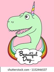Cute dinosaur vector design