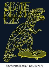 Cute dinosaur vector graphic design for t shirt