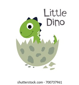 Cute dinosaur vector illustration.