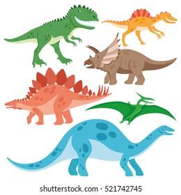 Cute dinosaurs set.