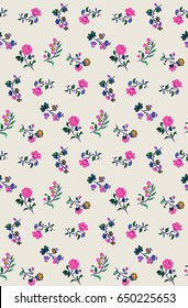 cute ditsy little floral print pattern