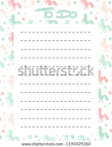 cute do list vector printable colorful stock vector royalty free