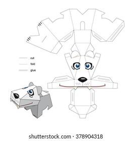 Cute dog. Box template