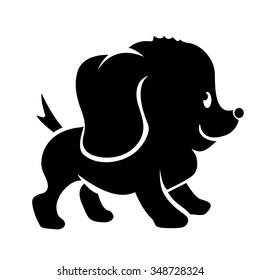 Cute dog cartoon illustration isolated on white background.