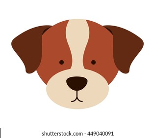 cute dog head isolated icon design, vector illustration  graphic