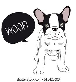 Cute Dog. Dog T-shirt graphics. illustration background. funny Dog for fashion print, poster for textiles, fashion design. French Bulldog