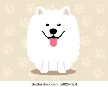 Cute dog  - vector