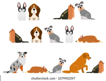 cute dogs border set