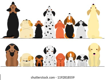 Dog Sitting On White Stock Illustrations, Images & Vectors