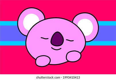 cute doll is sleeping the weakest under the beautiful colorful scenery
