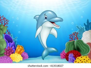 Cartoon Dolphin Stock Illustrations Images Vectors Shutterstock