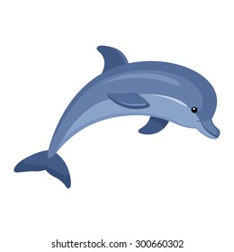 dolphin cartoon images  stock photos   vectors shutterstock clipart of dolphins and fish clip art of dolphins popping out of the water