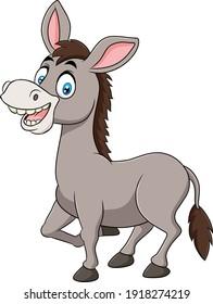 Cute Donkey animal cartoon illustration