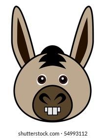Cute Donkey Vector