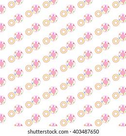 cute Donut pattern background