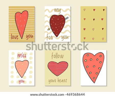 Cute Doodle Birthday Party Wedding Valentine Stock Vector Royalty