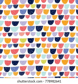 Cute doodle seamless pattern. Seamless pattern can be used for wallpaper, pattern fills, web page background, surface textures.