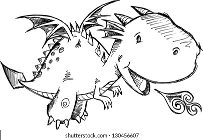 Image of: Cute Baby Cute Dragon Sketch Vector Art Shutterstock Dragon Drawing Images Stock Photos Vectors Shutterstock