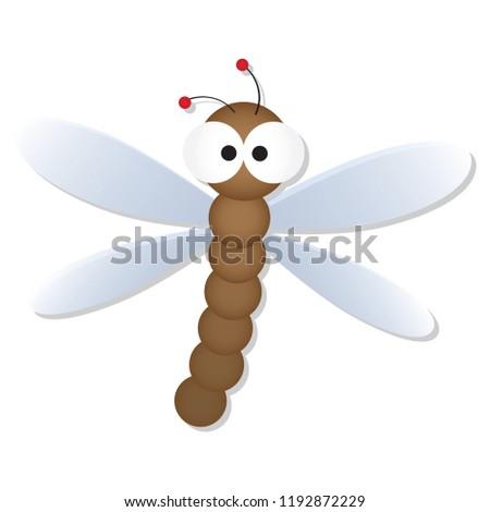cute dragonfly big googly eyes cartoon stock vector royalty free