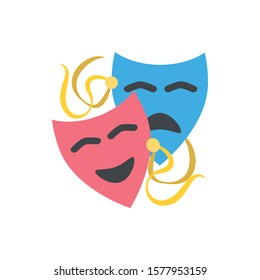 Cute Drama show icon for banner, general design print and websites. Illustration vector.