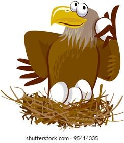 Cute Eagle Cartoon Character