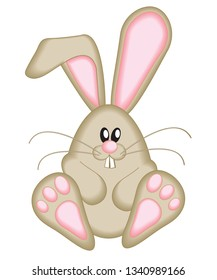 Cute Easter bunny icon