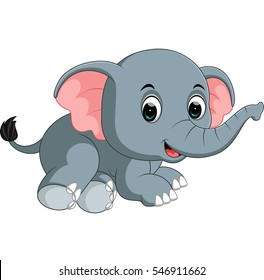 Children With Elephant Images Stock Photos Vectors