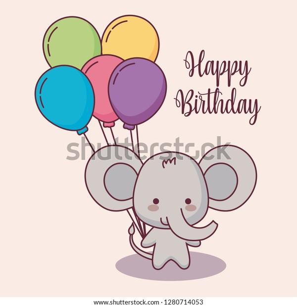 Birthday Elephant Card