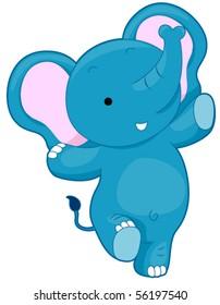 Cute Elephant - Vector
