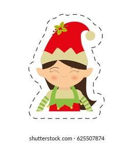 cute elf girl christmas image