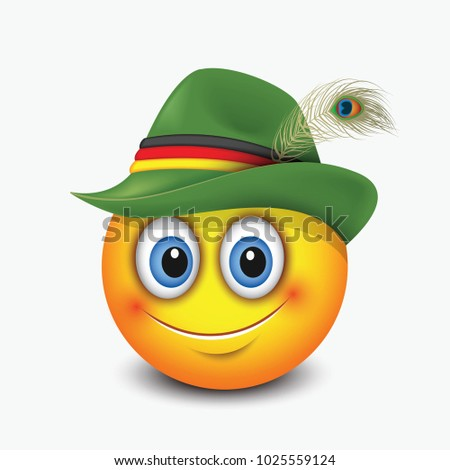 Immagine vettoriale a tema Cute Emoticon Wearing Traditional German ... a0d454586143