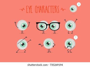 Cute eye vector character