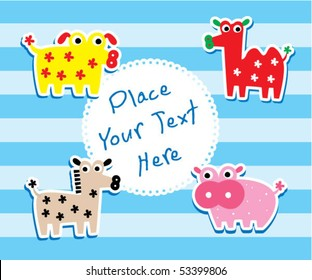 cute farm animals tag