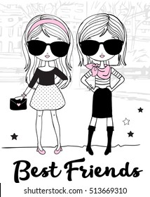 Cute Fashion Best Friends