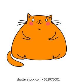 cute fat cat. vector illustration
