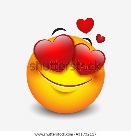 cute feeling love emoticon isolated on stock vector royalty free