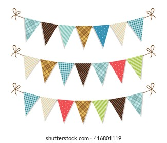 Cute festive Father's Day bunting flags for your decoration