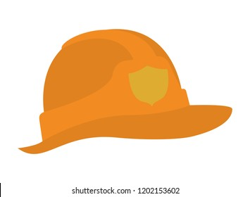 cute fireman helmet isolated icon