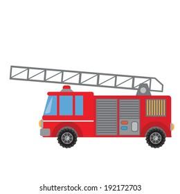 Cute fireman truck vector illustration