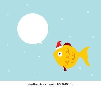 cute fish christmas message