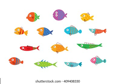 cute fish vector collection
