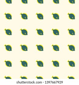 Cute flatfish seamless pattern. Vector color background.